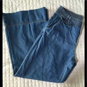 Vintage Wide Leg Soft Denim Jeans